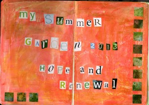 summer sketchbook title page